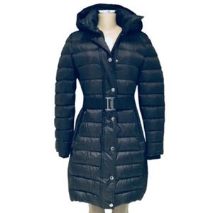 BURBERRY LONDON  ABBEYDALE BELTED DOWN PUFFER COAT